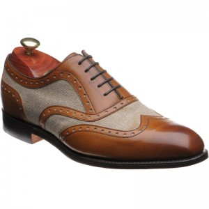 Barker Cambridge in Cedar Calf and Oatmeal Canvas