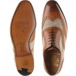 Barker Cambridge two-tone brogues