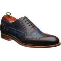 barker grant in walnut calf and navy calf