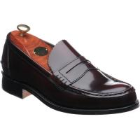barker caruso in burgundy polished