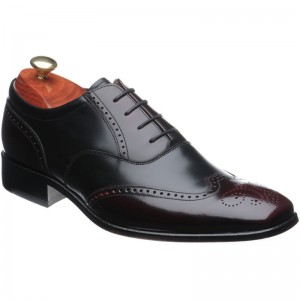 Barker Dartford two-tone rubber-soled brogues