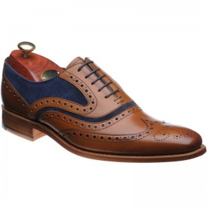 barker mcclean in cedar calf and navy suede