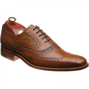 barker mcclean in cedar calf and paisley laser