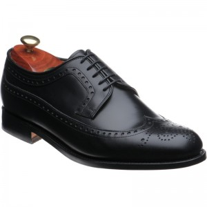 barker portrush in black calf