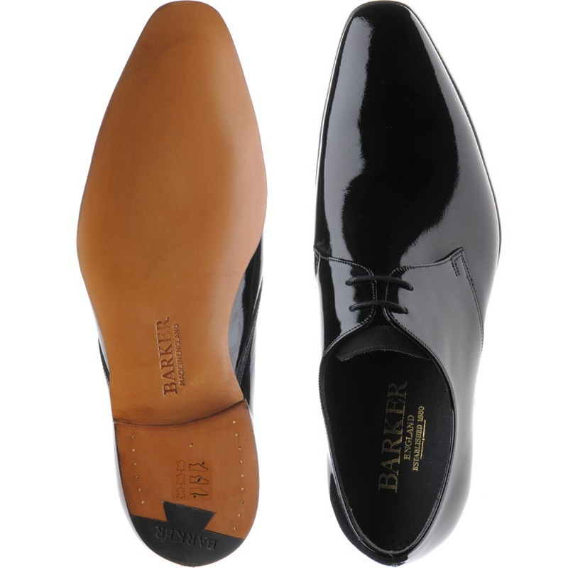 4eb11498 Barker shoes | Barker Professional | Goldington in Black Patent and Suede  at Herring Shoes