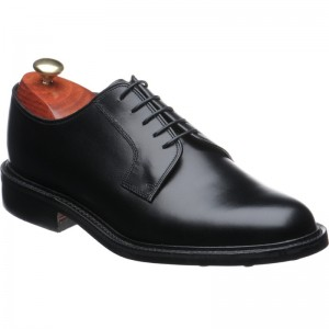 barker nairn rubber in black calf