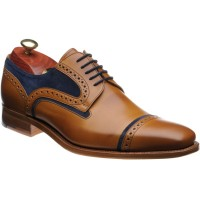 barker haig in cedar calf and blue suede