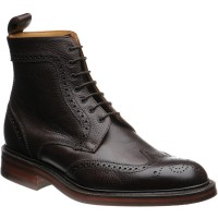barker calder in dark brown grain