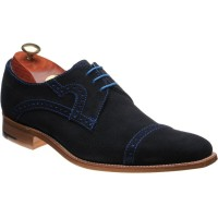 barker ashton in navy cut through suede