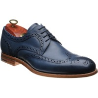 barker victor in navy hand painted calf
