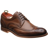 barker victor in brown hand painted calf