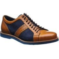 Barker Detroit two-tone rubber-soled trainers