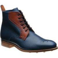 Jude two-tone rubber-soled brogue boots
