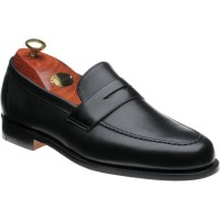 barker jevington in black calf