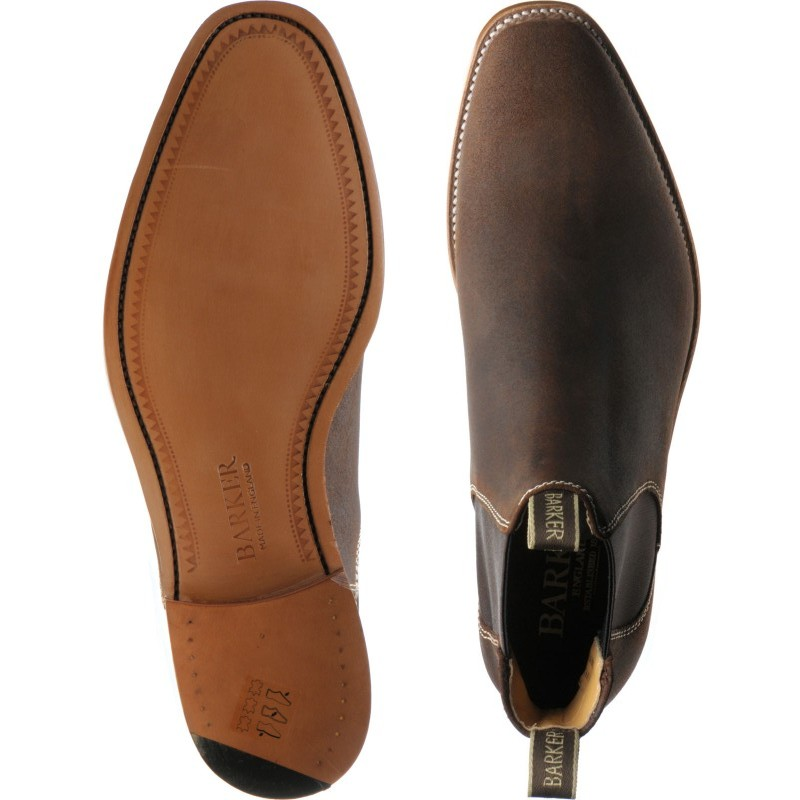 1adb318f58297 Barker shoes | Barker Professional | Mansfield in Brown Waxy Suede at  Herring Shoes