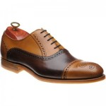 Barker Jax two-tone rubber-soled semi-brogues