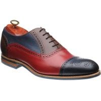barker jax in red navy and ebony stained calf