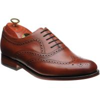 barker southport in rosewood calf