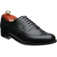 barker southport in black calf and deerskin