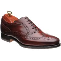 barker turing in cherry calf