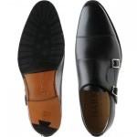 Edison rubber-soled double monk shoes