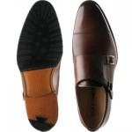 Edison rubber-soled double monk shoes