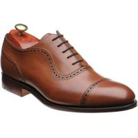 barker newmarket in antique rosewood calf