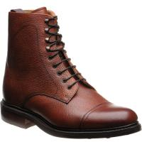 barker donegal in antique rosewood grain calf