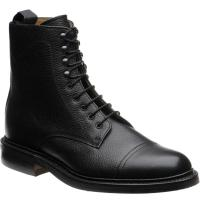 barker donegal in black grain calf