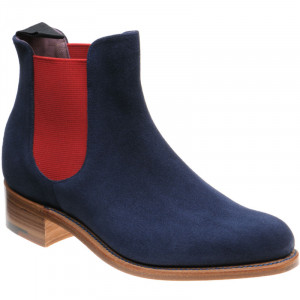 Navy Suede and Red Elastic at Herring Shoes