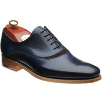 barker emerson in navy handpainted and polo suede
