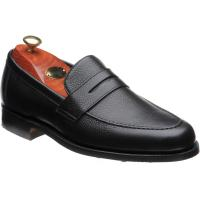 barker jevington rubber in black grain calf