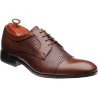 barker pytchley in rosewood calf weave