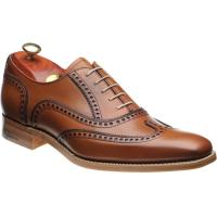 barker spencer in rosewood calf and navy calf