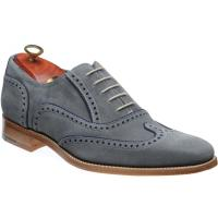 barker spencer in grey suede and navy suede