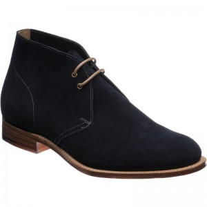 Church Sahara Leather in Navy Suede