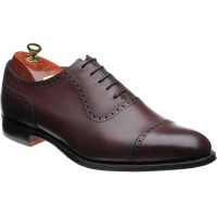 cheaney fenchurch in burgundy vegano calf