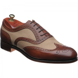 Edwin two-tone brogues