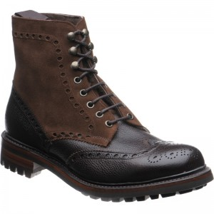Cheaney Irvine two-tone rubber-soled boots