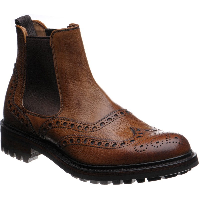 Cheaney Tamar C rubber-soled brogue Chelsea boots
