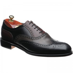 Cheaney James II in Black Grey and Burgundy Calf