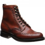 Tweed R rubber-soled brogue boots
