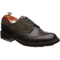 Avon B two-tone rubber-soled brogues
