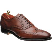 cheaney litchfield in brandy calf