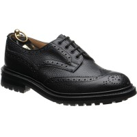 trickers ilkley in black calf grain
