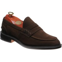 trickers james in chocolate suede