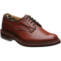 trickers woodstock rubber in marron calf