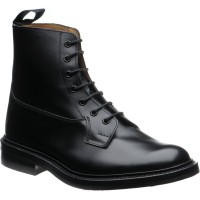 trickers burford rubber in black calf