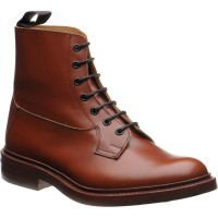 trickers burford rubber in marron calf