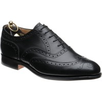 trickers norfolk in black calf